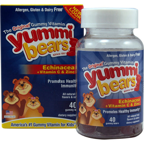 HERO NUTRITIONALS - Yummi Bears Echinacea plus Vitamin C  Zinc