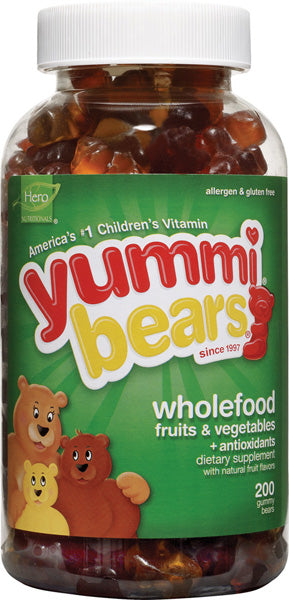 HERO NUTRITIONALS - Yummi Bears Whole Food Supplement