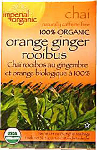 UNCLE LEE'S TEA - Imperial Organic Orange Ginger Rooibos Chai Tea