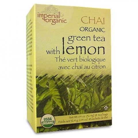 UNCLE LEE'S TEA - Imperial Organic Green Tea with Lemon Chai Tea