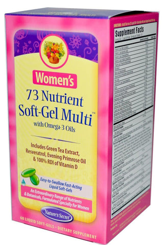 Natures Secret Womens 73 Nutrient Soft Gel Multi