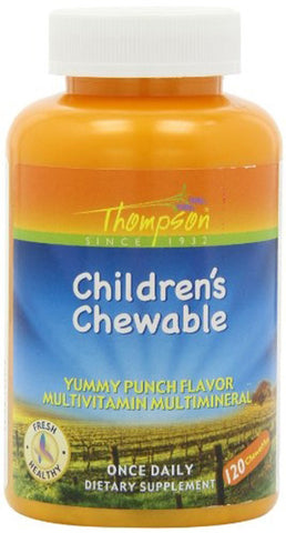 Thompson Nutritional Childrens Chewable Punch