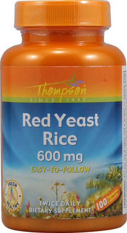 Thompson Nutritional Red Yeast Rice 600 mg