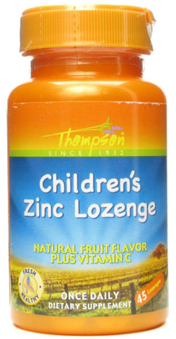 Thompson Nutritional Childrens Zinc Lozenge with Vit C Fruit Flavor