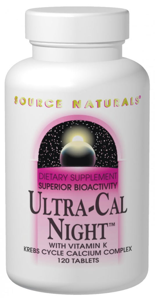 Source Naturals Ultra-Cal Night with Vitamin K - 240 Tablets