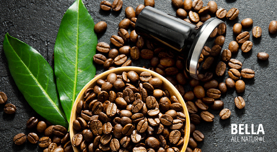 Leaves and Coffee Beans
