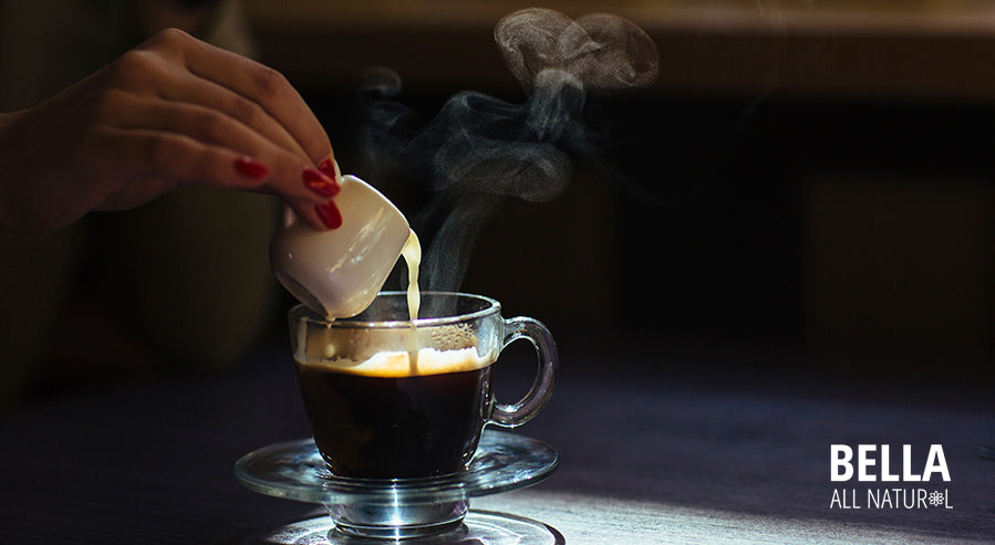 Pouring Milk Coffee