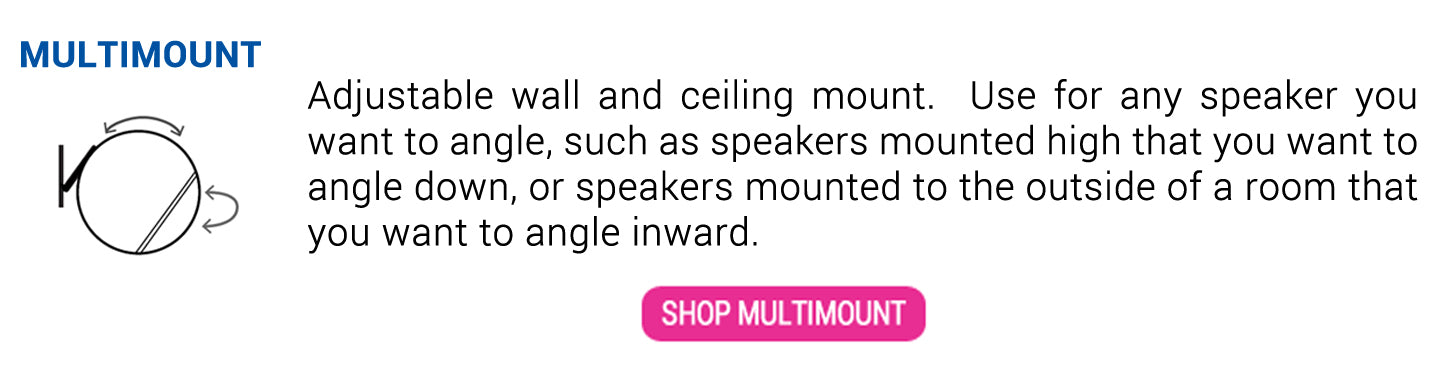 MultiMount Wall And Ceiling Speaker Mount
