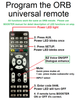 Universal Remote Control - Programmed for Booster