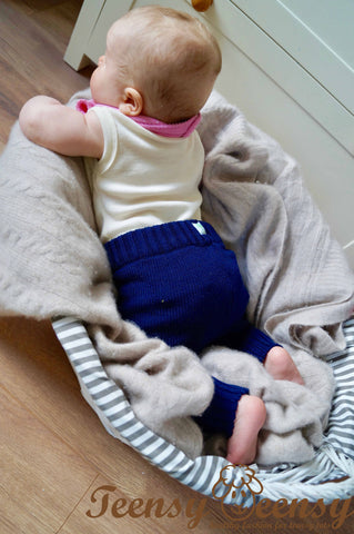 Hand Knitted Merino Wool Baby Pants