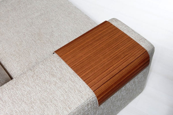 "Woodymood Sofa Arm Tray 11.81""x15.75"", Alman Walnut"