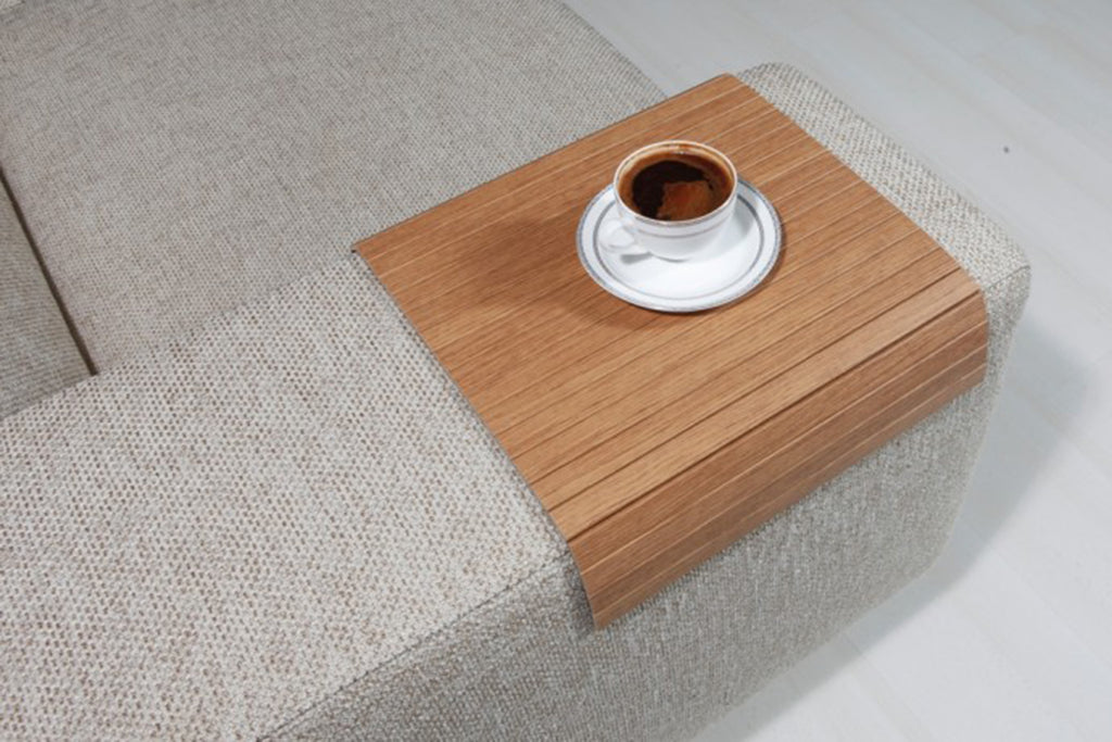 "Woodymood Sofa Arm Tray 11.81""x15.75"", Bahama Tik"