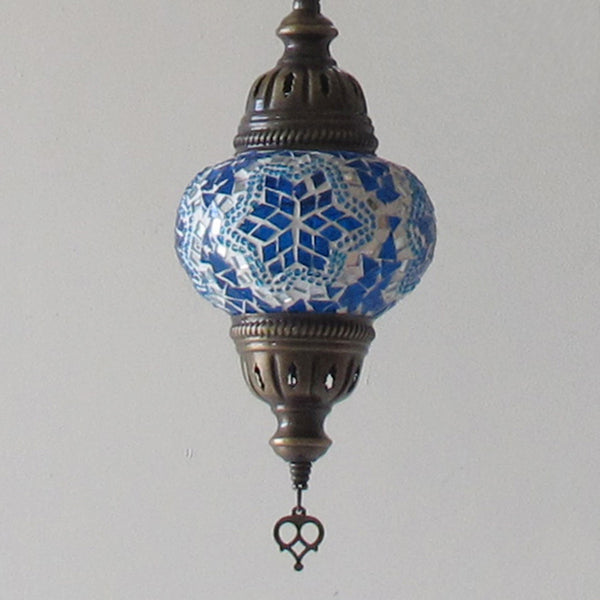 Woodymood Ceiling Spiral Mosaic Lamp 3 Ball-Star Turquoise