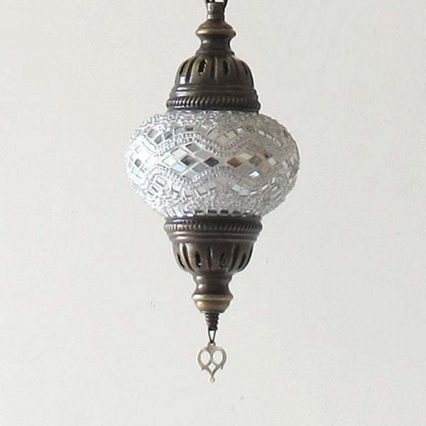 Woodymood Ceiling Spiral Mosaic Lamp 3 Ball-White