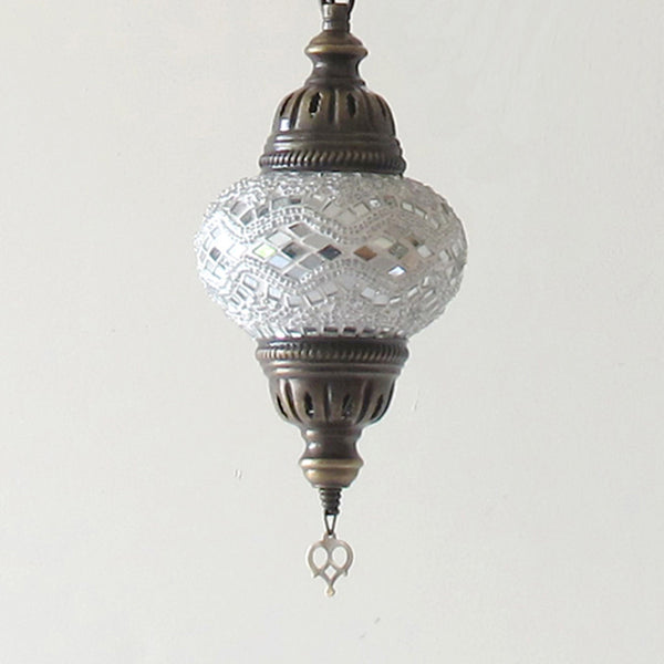 Woodymood Ceiling Spiral Mosaic Lamp 5 Ball-White