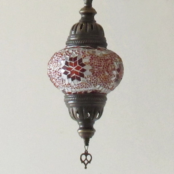 Woodymood Ceiling Mosaic Lamp 9 Ball-Star Red