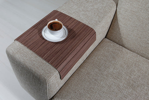 "Woodymood Sofa Arm Tray 11.81""x15.75"", Florida Walnut"