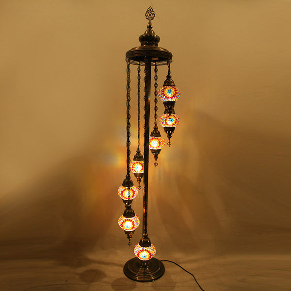 Woodymood Floor Mosaic Lamp 7 Ball-Flame