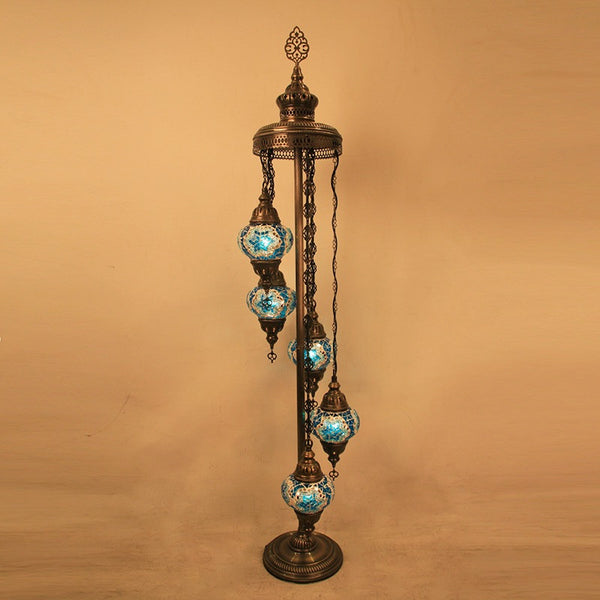 Woodymood Floor Mosaic Lamp 5 Ball-Star Turquoise