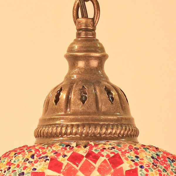 "Woodymood Ceiling Mosaic Lamp 6.5"" 1 Ball -Flame"