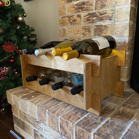 Woodymood French Style Wine Rack-Natural