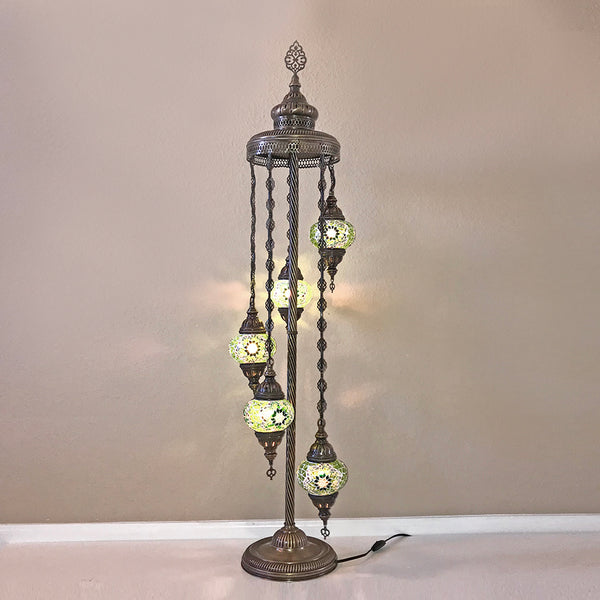 Woodymood Floor Mosaic Lamp 5 Ball-Green