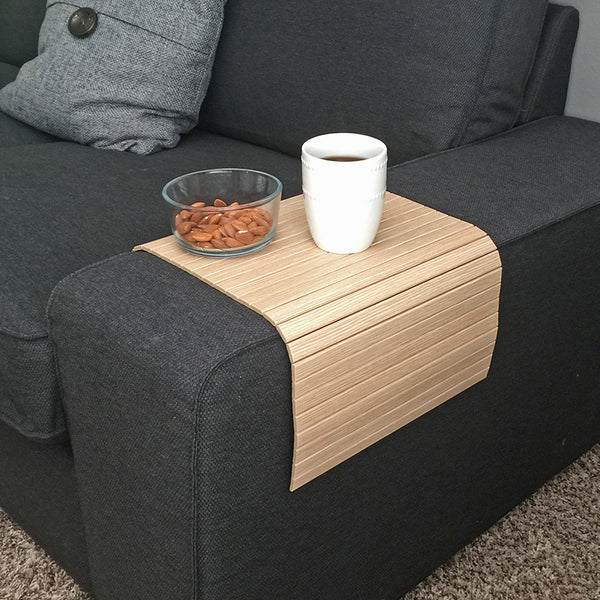"Woodymood Sofa Arm Tray 11.81""x23.62"", Natural OAK"