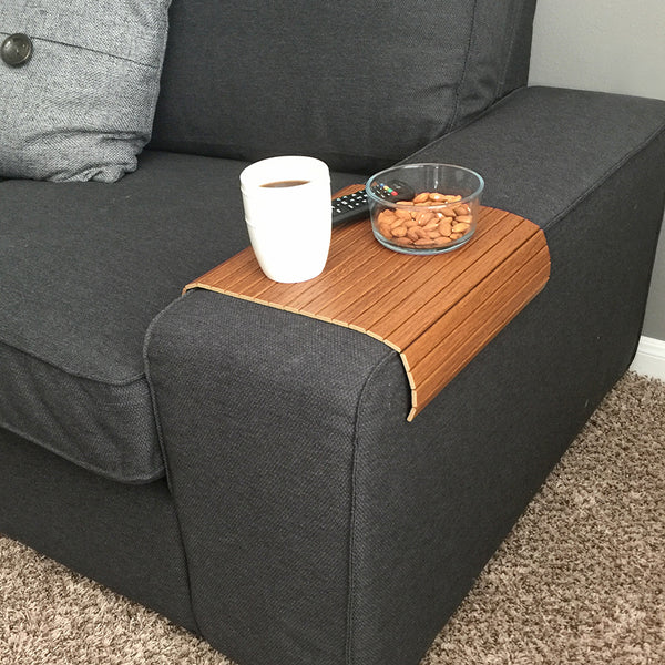 "Woodymood Sofa Arm Tray 11.81""x15.75"", Italian Walnut"
