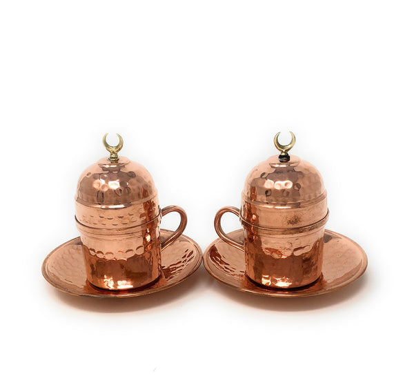 Hand Made Turkish Coffee Sets, Copper Espresso Set, Traditional Turkish Coffee Sets