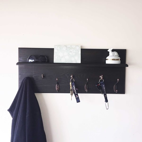 Woodymood Antique Wall Organizer Shelf-Wenge
