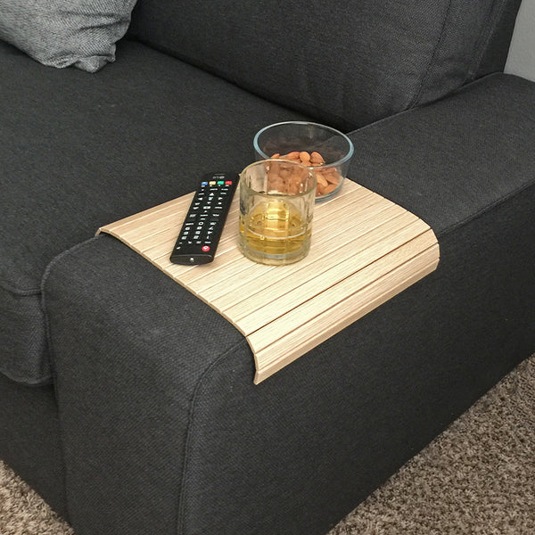 "Woodymood Sofa Arm Tray 11.81""x15.75"", Natural OAK"
