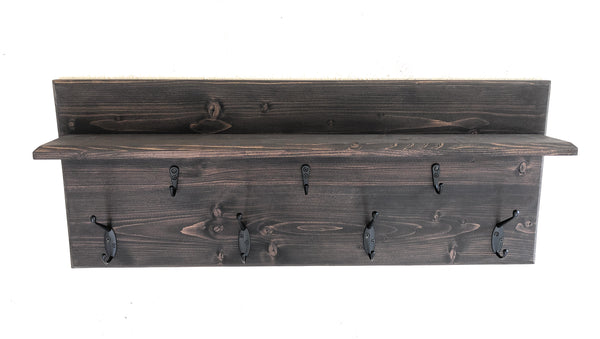 Woodymood Antique Wall Organizer Shelf-Espresso