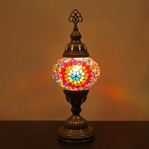 Woodymood Mosaic Table Lamp Small-Flame