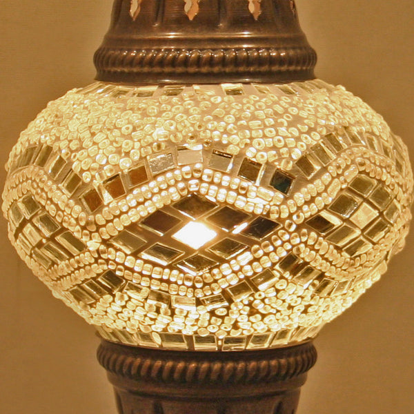 Woodymood Mosaic Table Lamp Small-White