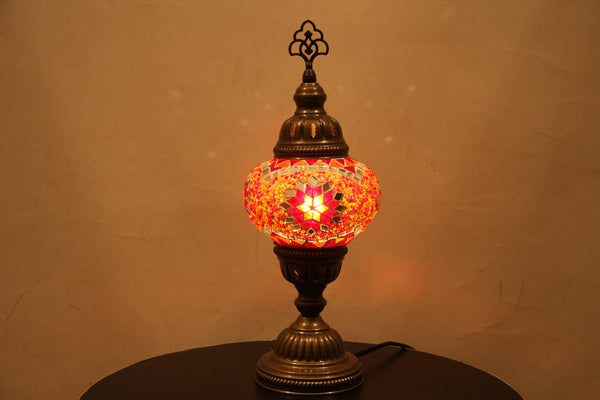 Woodymood Mosaic Table Lamp 5'' 1 Ball-Star Red