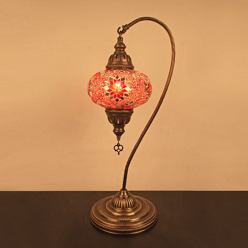 Sold Out Woodymood Mosaic Swan Neck Table Lamp Medium Star Red