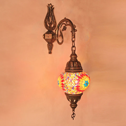 Woodymood Sconce Mosaic Lamps 5'' 1 Ball - Flame