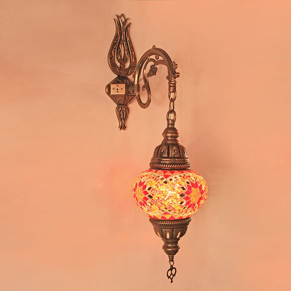Woodymood Sconce Mosaic Lamps 5'' 1 Ball - Star Red