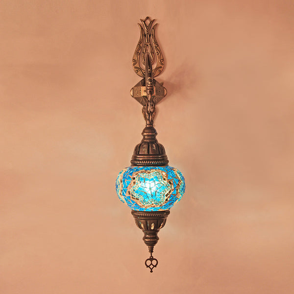 Woodymood Sconce Mosaic Lamps 5'' 1 Ball - Star Turquoise
