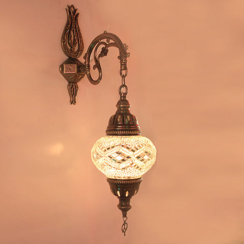 Woodymood Sconce Mosaic Lamps 5'' 1 Ball - White