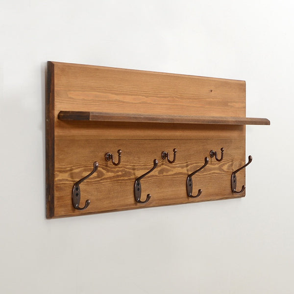 Woodymood Antique Wall Organizer Shelf-Natural
