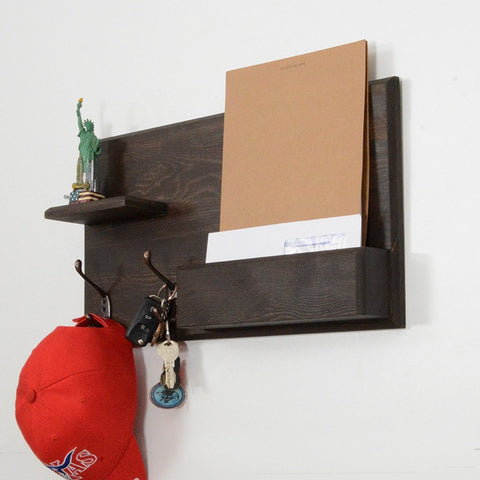 Woodymood Country Style Wall Organizer Shelf-Wenge