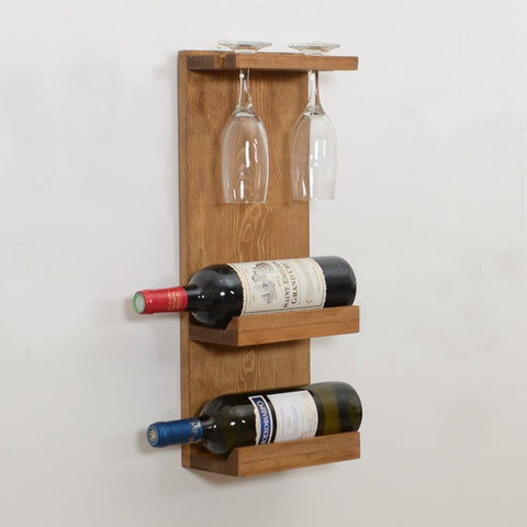 Woodymood Decorative Wine Rack Glass Holder-Natural