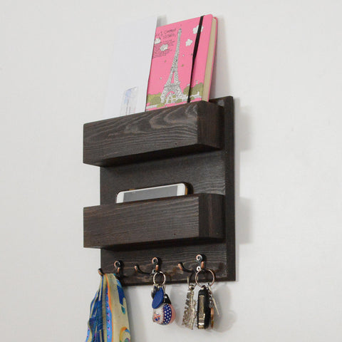 Woodymood Double Side Wall Organizer Shelf-Wenge
