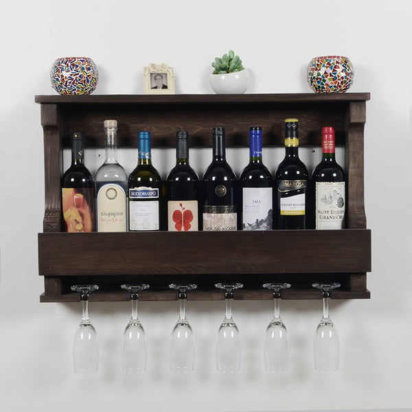 Woodymood Hangover Wine Rack Glass Holder-Wenge