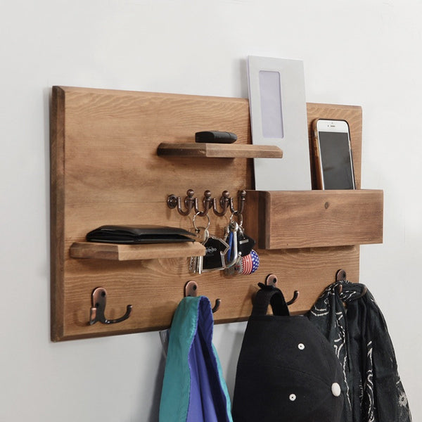 Woodymood Happy Wall Organizer Shelf-Natural