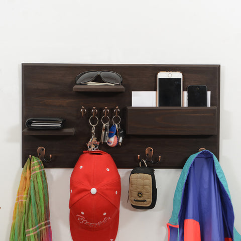 Woodymood Happy Wall Organizer Shelf-Wenge