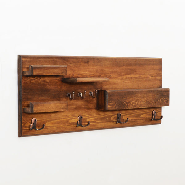 Woodymood Little Professional Wall Organizer Shelf-Dark Hazelnut