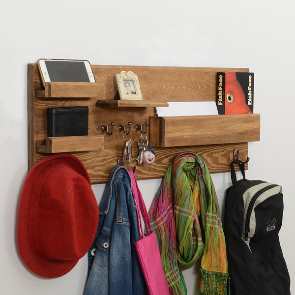Woodymood Little Professional Wall Organizer Shelf-Natural