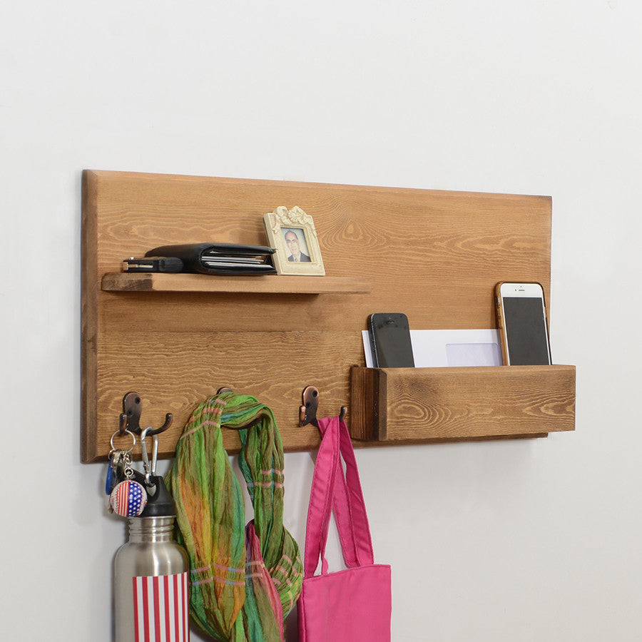 Woodymood Lucky Wall Organizer Shelf-Natural
